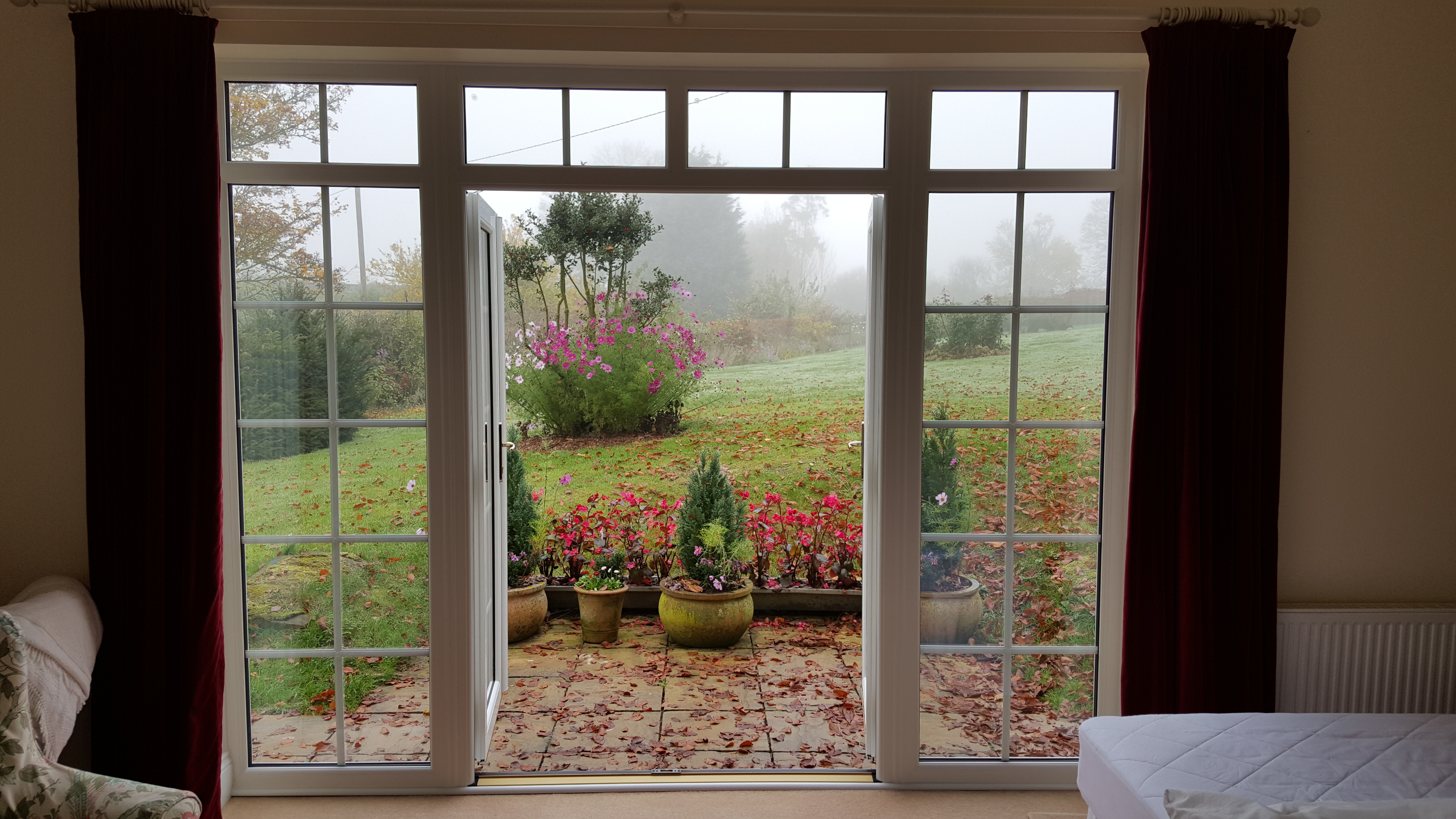 Upvc french doors djl uk ltd for French windows with side panels